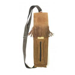 Колчан заспинный Традиция 1 из замши с бахромой