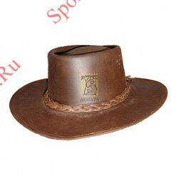 Шляпа кожаная ковбойская размер LКовбойская шляпа кожаная (размер L)