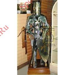Доспехи рыцарские в полный рост AG-705Рыцарь ордена Тамплиеров с мечом и щитом