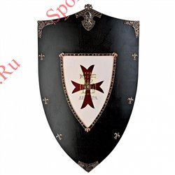 Щит Art-Gladius Крестоносцы, черно-белый 870