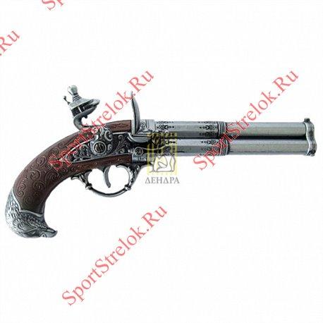 Пистолет кремневый трехдульный, Франция, Denix 1306Пистолет кремневый трехдульный, Франция, Denix 1306