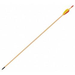 """Стрела лучная деревянная 29"""" с резиновым оперением"""